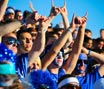 Students cheering at sporting event