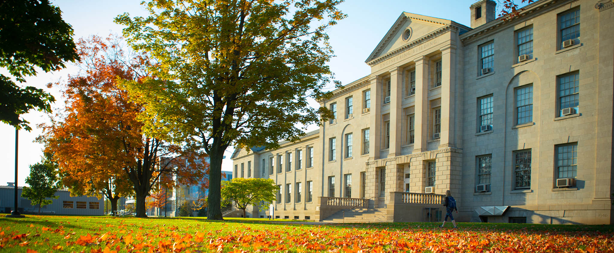 Crosby Hall in the fall