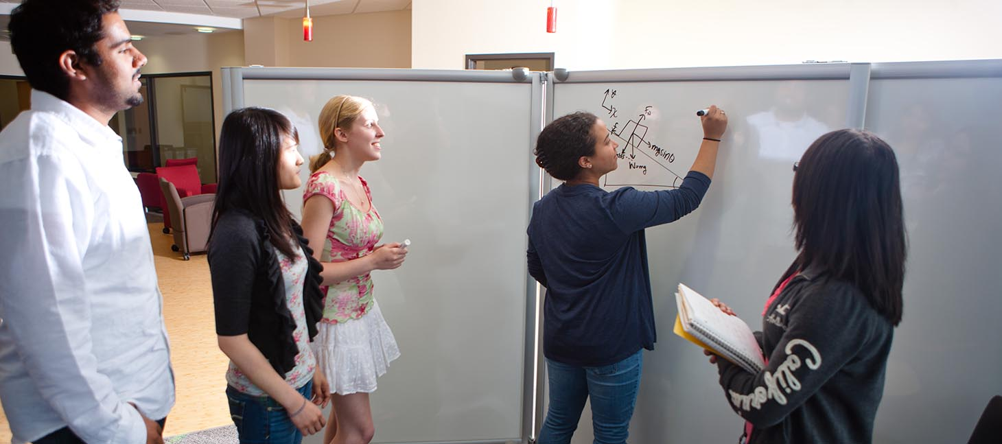 Students at the Honors College in Capen Hall