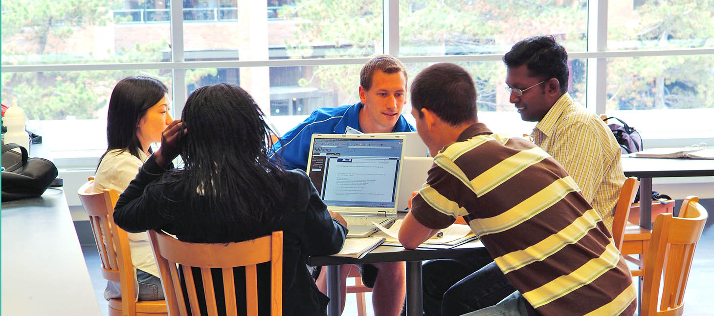 Graduate Students in Communications in the Alfiero Center