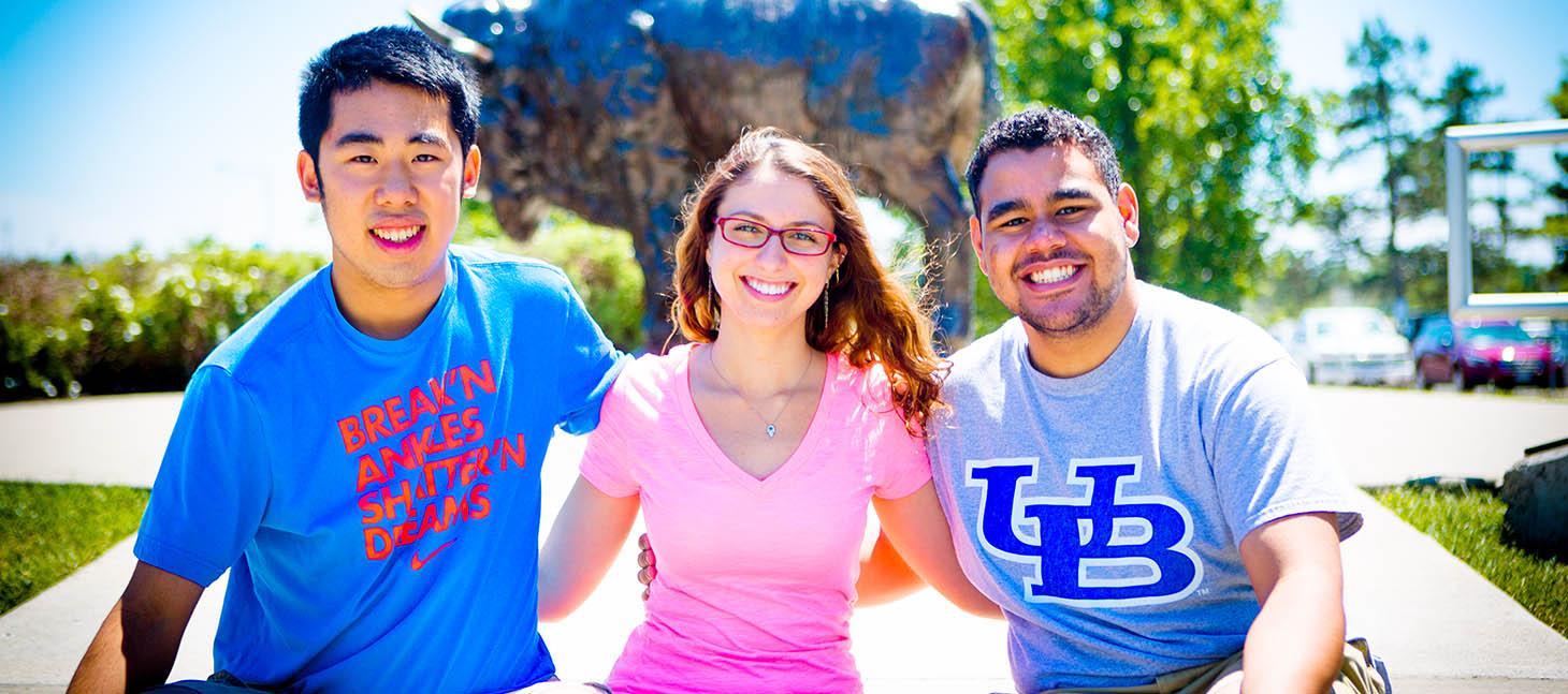 Undergraduate Student Matt Rivera and Friends on the North Campus