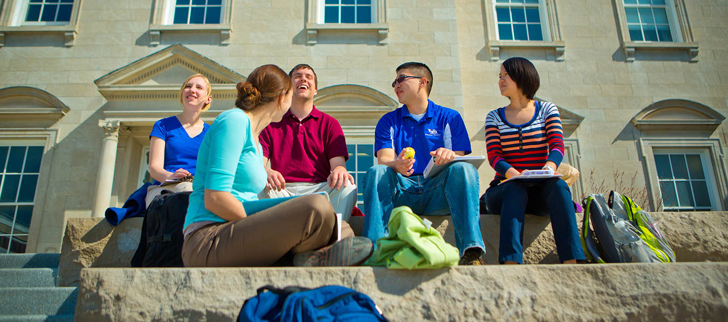 Students on South Campus