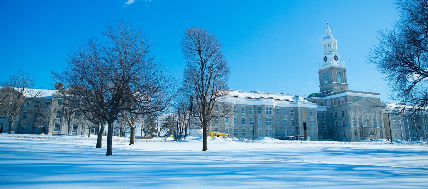Hayes Hall in winter, UB's South Campus